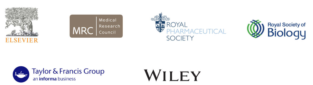 I don't know what to believe partner logos: Elsevier, MRC, Royal Pharmaceutical Society, Royal Society of Biology, Taylor & Francis, Wiley